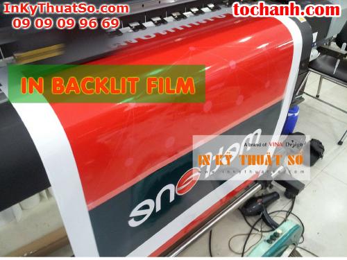 In backlit film hộp đèn giá rẻ được thực hiện tại Công ty TNHH In Kỹ Thuật Số - Digital Printing