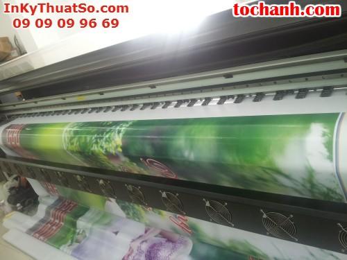Phông nền sân khấu từ bạt hiflex in phun khổ lớn tại Công ty TNHH In Kỹ Thuật Số